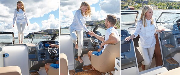 Permanent and easy access to the cabin and foredeck